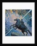 Fireworks. The Bronze Horseman by Boris Michaylovich Kustodiev