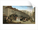Arrival of the Stagecoach in the Courtyard of the Messageries by Louis-Léopold Boilly