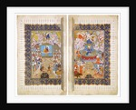 The Queen of Sheba and King Solomon (Manuscript illumination from the epic Shahname by Ferdowsi by Iranian master