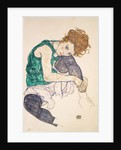 Seated Woman with Legs Drawn Up by Egon Schiele