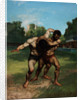 The Wrestlers by Gustave Courbet