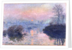 Sunset on the Seine at Lavacourt, Winter Effect by Claude Monet