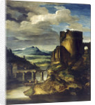 Landscape with a Tomb by Théodore Géricault