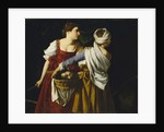 Judith and Her Maidservant with the Head of Holofernes by Orazio Gentileschi