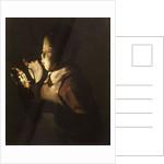 Boy Blowing at Lamp by Georges de La Tour