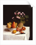 Still life with primroses and pears by Henri Fantin-Latour