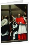 The Exaltation of the Holy Nail with Saint Charles Borromeo by Carlo Saraceni