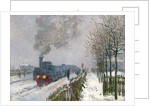 Train in the Snow by Claude Monet