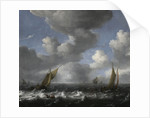 Seascape with Fishing Boats by Ludolf Bakhuizen