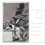 The Sleep of Reason Produces Monsters. (Capricho No 43) by Francisco de Goya
