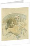 Tahitian Woman with Evil Spirit by Paul Eugéne Henri Gauguin