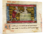 Lancelot rescuing a lady from a tub by Anonymous