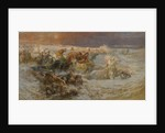 Pharaohs Army Engulfed by the Red Sea by Frederick Arthur Bridgman