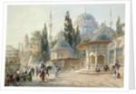 The Sehzade Mosque in Constantinople by Eugène-Napoleon Flandin