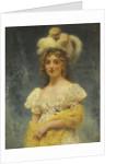 Portrait of a Lady in a Yellow Shawl by Konstantin Yegorovich Makovsky