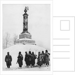 Soviet soldiers at the monument to the heroes of the War of 1812 in the village of Tarutino Kaluga r by Anonymous