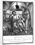 Vasilko Rostislavich in Prison Visited by Monk Vasily. 1098 (From Illustrated Karamzin), 1836 by Boris Artemyevich Chorikov