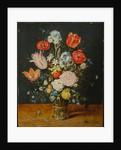Flowers in a Glass Beaker, after 1608 by Jan Brueghel the Elder