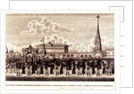 Funeral ceremony of Emperor Alexander I at the Moscow Kremlin, 1828 by Russian Master