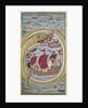 Sea serpent swallows the royal fleet, 1670 by Indian Art