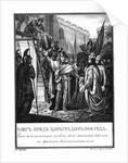 Prince Oleg before the Gates of Constantinople. 906 (From Illustrated Karamzin), 1836 by Boris Artemyevich Chorikov