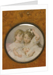 Portrait miniature of Grand Duchesses Olga, Tatiana and Maria of Russia, c. 1900 by Anonymous