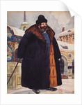 Merchant in a fur coat, 1920 by Boris Michaylovich Kustodiev