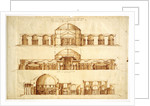 Reconstruction project of the Baths of Agrippa, Rome, c. 1550 by Andrea Palladio