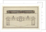 Project of Smolny Institute. The Main Facade and the Ground Floor Plan, 1806-1808 by Giacomo Antonio Domenico Quarenghi