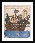 Trading ship. Miniature from al-Hariris Maqamat, 1237 by Anonymous