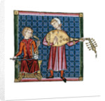 Two minstrels. Illustration from the codex of the Cantigas de Santa Maria, c. 1280 by Anonymous