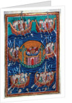 Viking ships arriving in Britain, ca 1130 by Abbo of Fleury