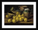 Still life with limes, jam pot and butterfly, Second Half of the 18th century by Luis Egidio Meléndez