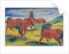 Grazing horses III, 1910 by Franz Marc