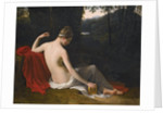 Pandora Reclining in a Wooded Landscape by Louis Hersent