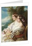Queen Victoria and her cousin, the Duchess of Nemours, 1852 by Franz Xavier Winterhalter