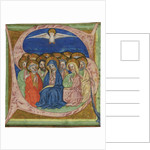 The Pentecost. Initial S from an manuscript Gradual, ca 1430 by Anonymous