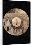 Saint John the Evangelist on Patmos (Reverse side). The Passion of the Christ, c. 1505 by Hieronymus Bosch