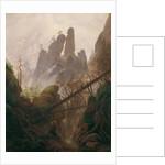 Rocky Landscape in the Elbe Sandstone Mountains, 1822-1823 by Caspar David Friedrich