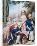 Children of Duke Peter of Oldenburg (1812?1881): Alexandra, Katharine, Nikolaus, Alexander and Georg by Vladimir Ivanovich Hau