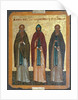 Saints Chariton the Confessor, Barlaam of Khutyn and Sergius of Radonezh, 15th century by Russian icon