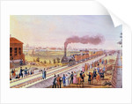Arrival of the first train from St. Petersburg to Tsarskoye Selo on 30 October 1837, 1837 by Friedrich von Martens