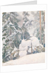 Winter landscape, 1922 by Pekka Halonen