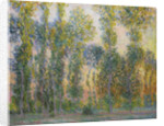 Poplars at Giverny, 1887 by Claude Monet