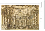Set design for the Opera Bellérophon by Jean-Baptiste Lully, 18th century by Anonymous
