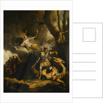 Jason killing the Colchian Dragon, ca 1766-1770 by Anonymous