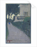 Landscape with house, trees and female figure, 1907 by Anonymous