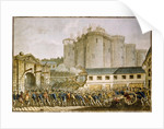 The Storming of the Bastille, 1789 by Anonymous