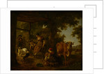 On the farm, A scene from rural life, Second Half of the 18th cen by Anonymous