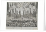 Fireworks on the Occasion of the Wedding of Grand Duke Pyotr Fyodorovitch and Grand Duchess Catherin by Anonymous